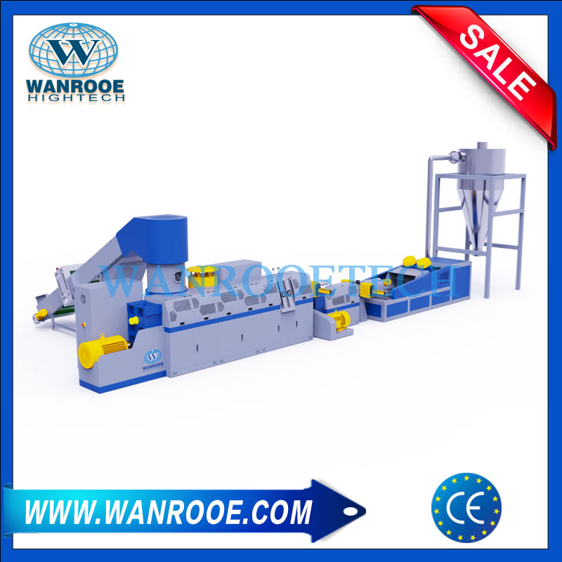 water ring pelletizer, agricultural film pelletizer, plastic pelletizing recycling machine, film pelletizer, film granulator