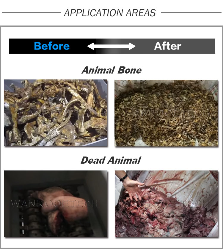Animal Bone Shredder, Animal Body Shredder, Dead Animal Body Crusher