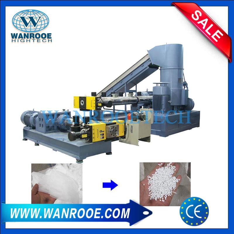 Plastic Film Granulating Line, Plastic Pelletizing Machine, Plastic Granulator Machine, Two Stage Pelletizing Machine