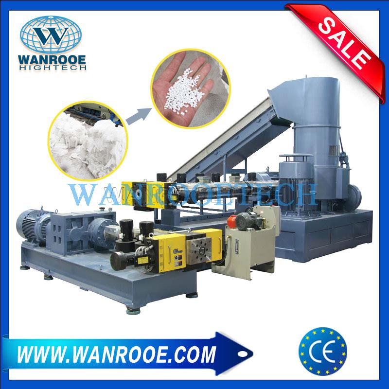 Plastic Film Granulating Line, Plastic Pelletizing Machine, Water Ring Pelletizer, Plastic Granulating Machine