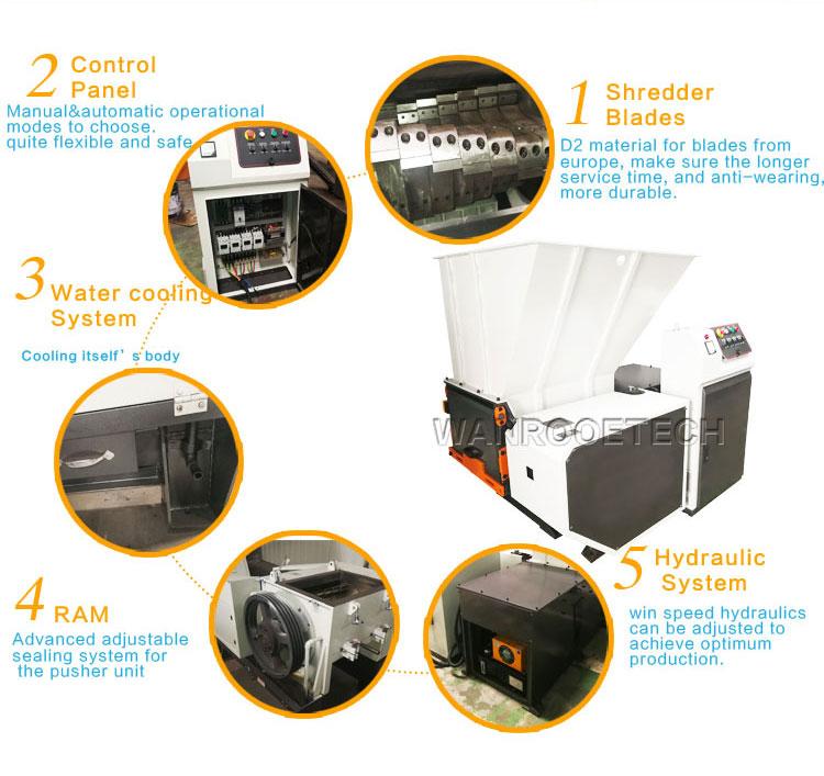 garbage shredder, MSW shredder, municipal waste shredder, industrial waste shredder, general waste shredder