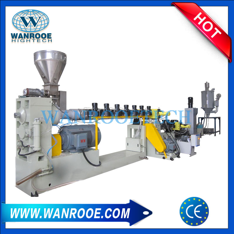 Double Stage Pelletizing Line,Plastic Granules Making Machine,Regrind Plastic Granulator Machine,Plastic regrind pelletizing Machine
