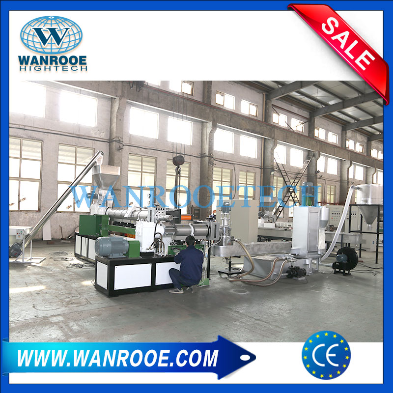 Double Stage Pelletizing Line, Plastic Granules Making Machine, Plastic Scraps Pelletizer, ABS Pelletizer, PS Pelletizer