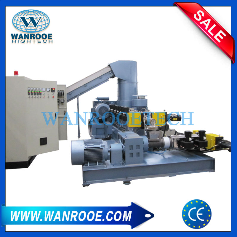 Plastic Granulating Machine, Double Stage Pelletizing Line, Plastic Water Ring Pelletizer, Plastic Granules Making Machine