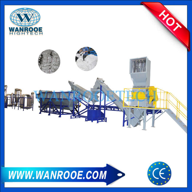 China PP woven Jumbo Bag washing line, PP woven Jumbo Bag washing recycling machine ,PP woven Bag recycling machine, PP woven jumbo bag Crusher Granulator