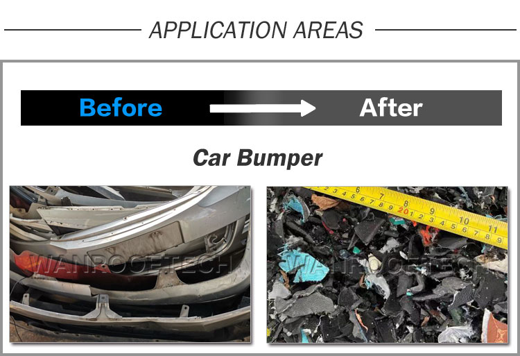 car bumper shredder,vehicle bumper shredder, plastic bumper shredder,  twin shaft shredder,vehicle bumper recycling