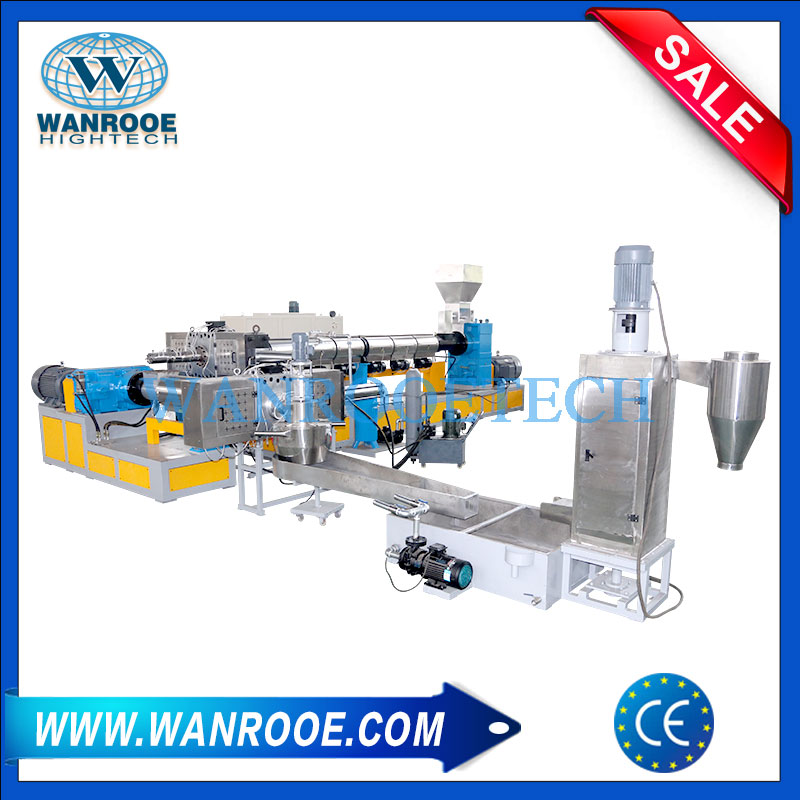 Regrind Plastic Granulator Machine, Plastic Regrind Pelletizing Machine, Plastic Regrind Pelletizing Line, Double Stage Granulating Machine