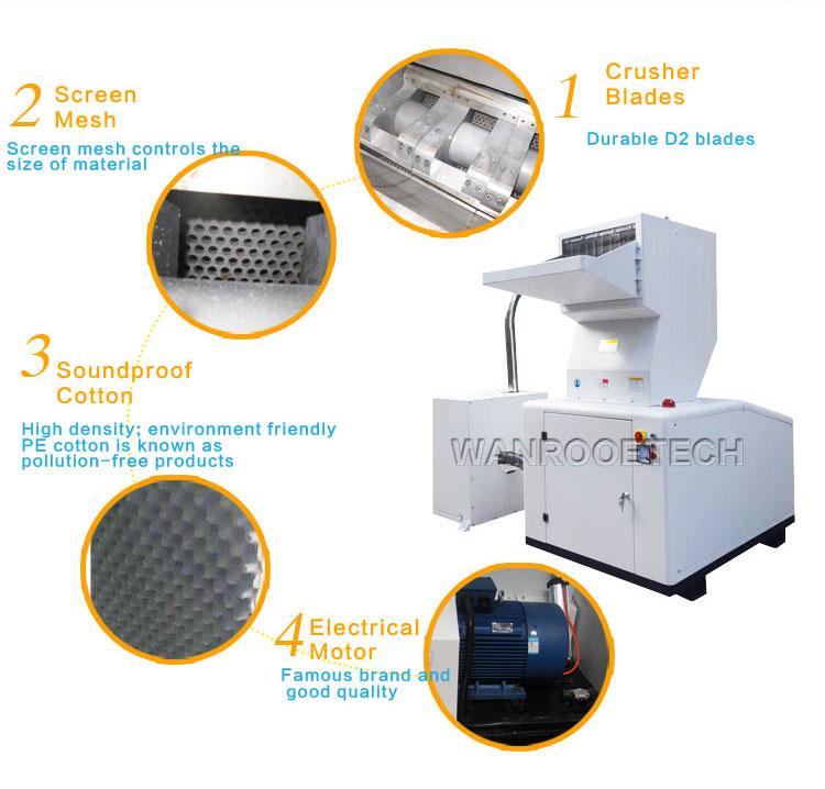 Sound Proof Plastic Crusher,Plastic PET Bottle Crusher, Soundproof Plastic Granulator, Waste Plastic Crusher