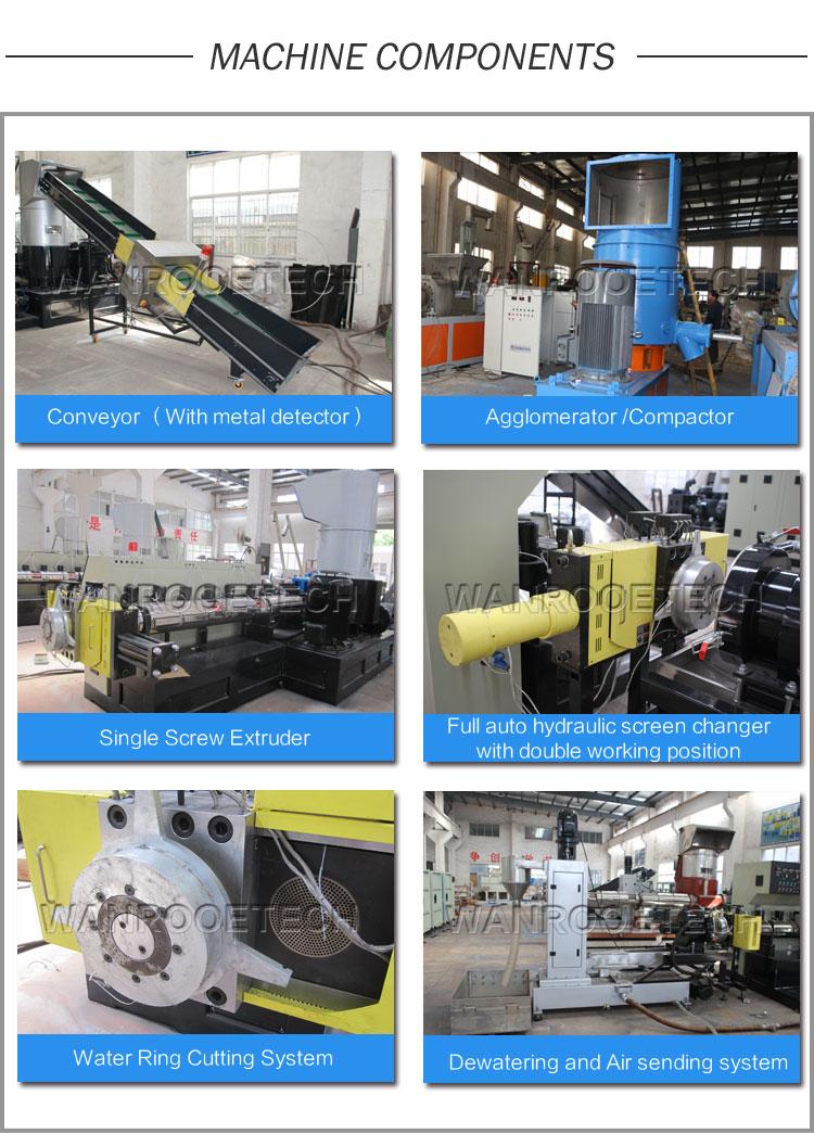 Plastic Film Compactor Pelletizing Line, Plastic Pellet Making Machine, Plastic Compactor Granulating Machine