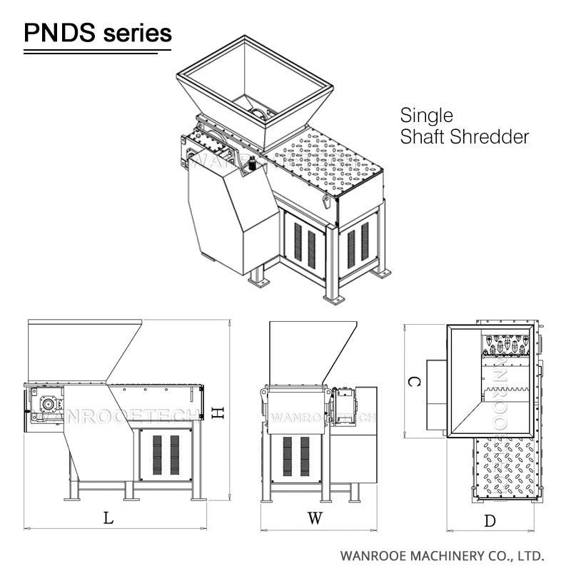single shaft shredder, plastic shredder, plastic pipe shredder, wood shredder, cable shredder