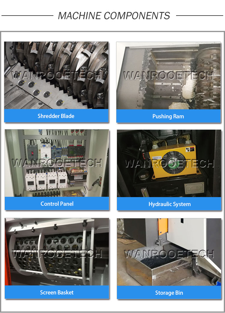 single shaft shredder components