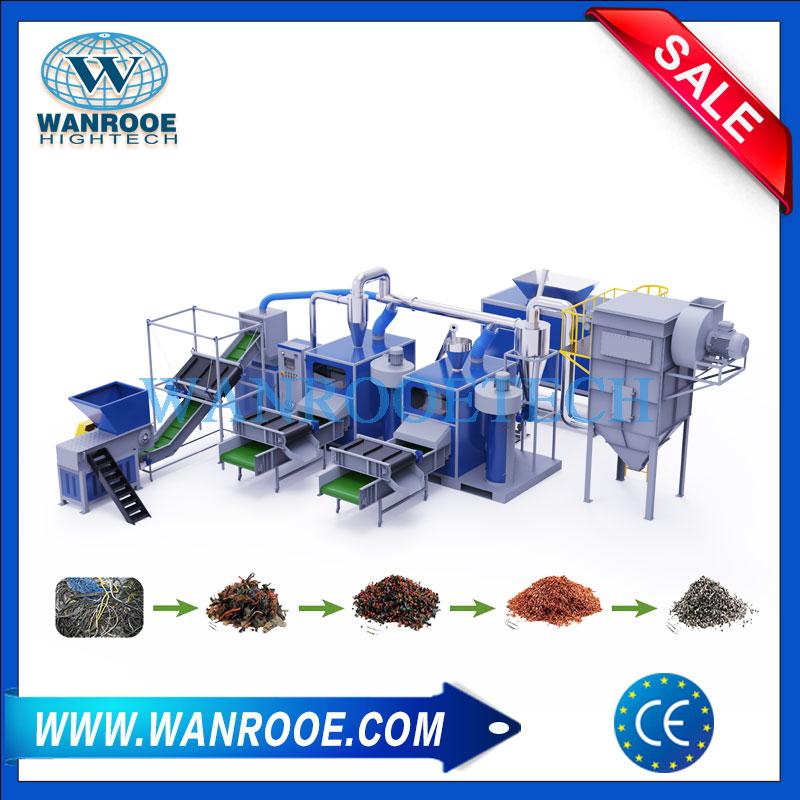 Copper Cable Granulator Separator, Copper Wire Recycling Machine, Copper Wire Separator, Wire Granulator For Sale