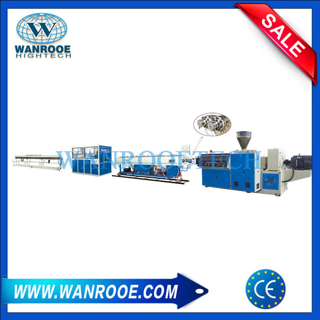 Double PVC pipe production line, Dual PVC pipe extrusion line,Extruder