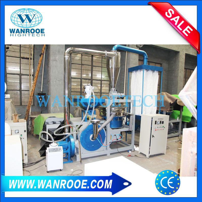 Nylon Plastic Mill Pulverizer Grinder PP Granule Resin Powder Making Machine
