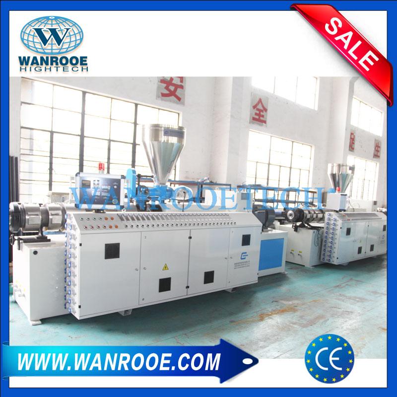 PVC Conical Twin Screw Extruder Machine,PVC Extruder,PVC Pipe Extrusion Line,PVC Pipe Extrusion Machine