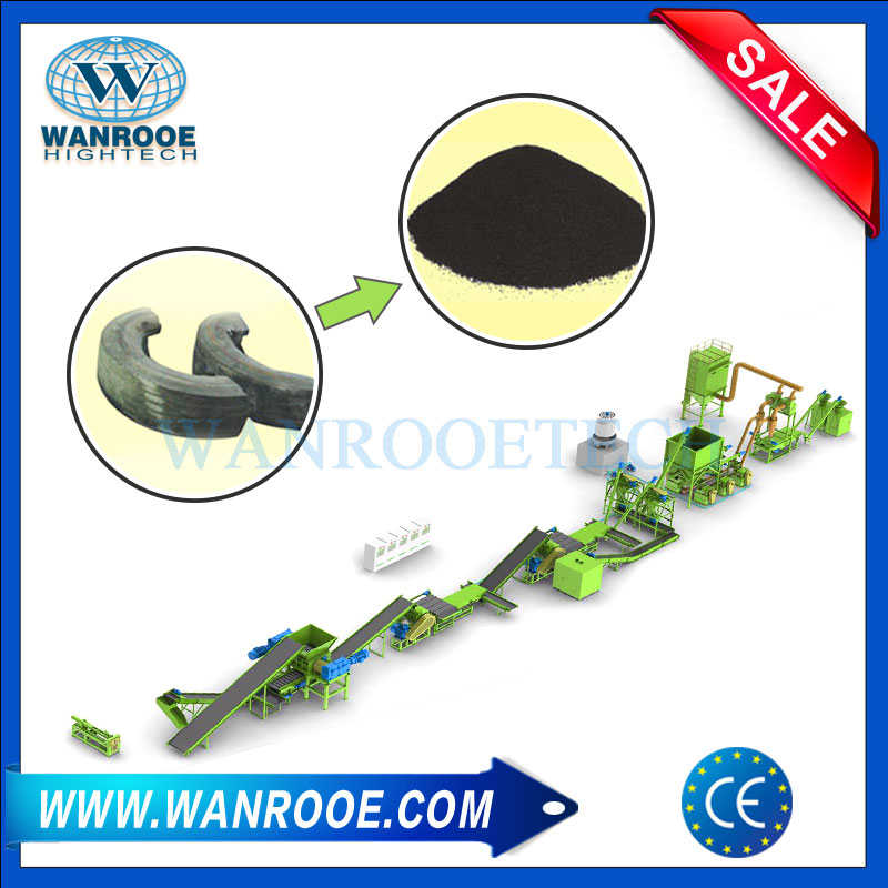 Tire Tyre Rubber Recycling Pulverizing Grinder Pulveriser Machine