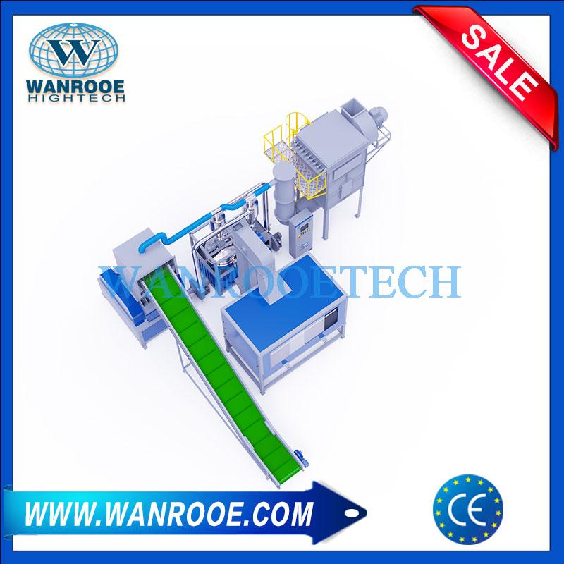 Tooth Paste Tubes Recycling Machine, Aluminum Plastic Separation Equipment, Electrostatic Separation Machine, Aluminum Plastic Recycling Plant