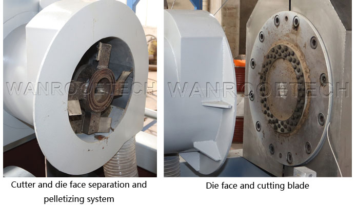 Die face and cutting blade
