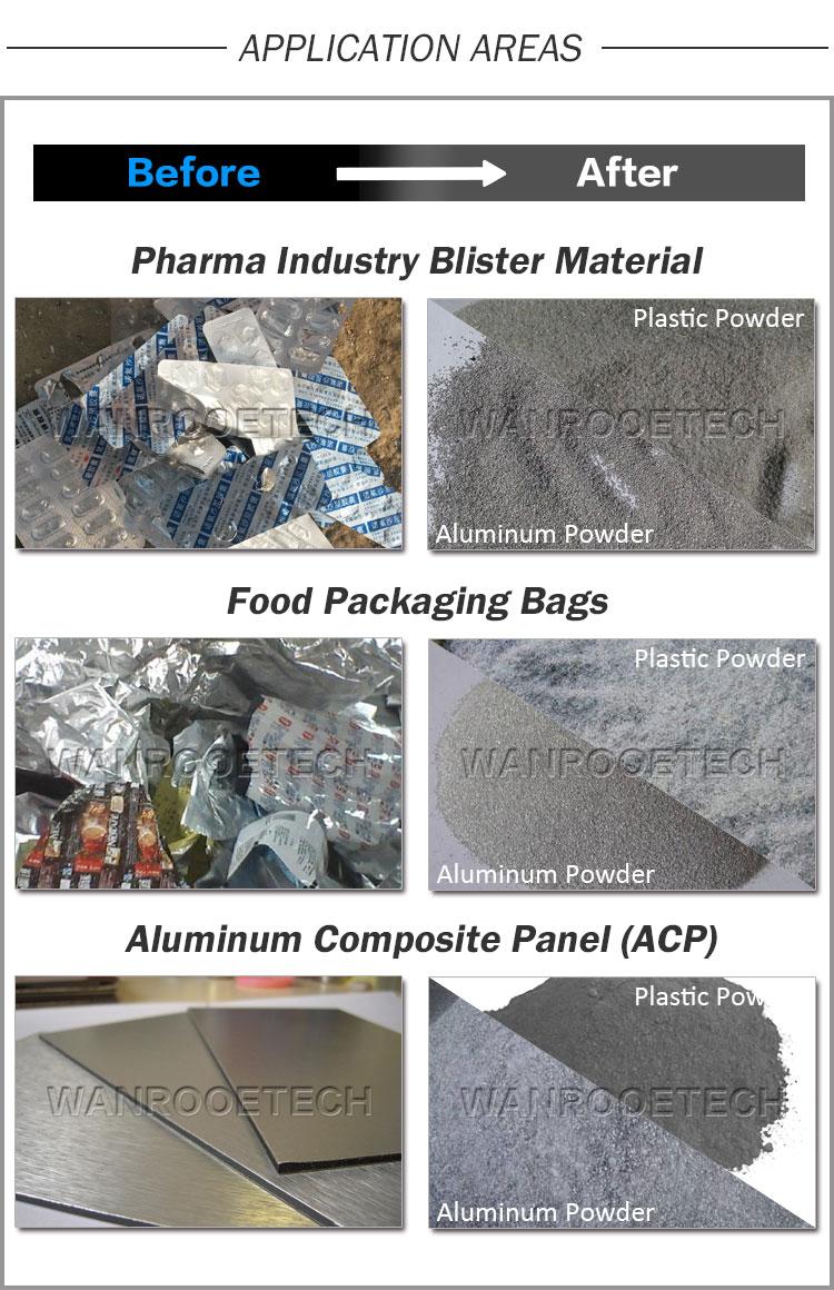 Aluminum Plastic Separation Machine, Aluminum Plastic Recycling Machine, Aluminum Composite Panel Recycling Machine, Aluminum Off-cuts Recycling Machine
