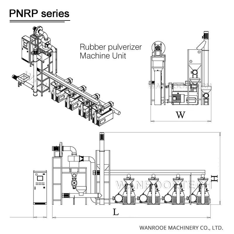 Rubber Pulverizer, Rubber Grinder, tire pulverizer, tyre pulverizer, tyre powder making machine