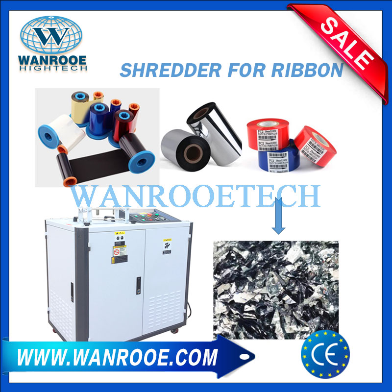 ribbon shredder, ribbon shredder machine, ribbon crusher, laminated tape shredder, laminated tape crusher