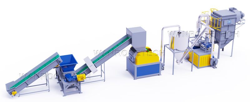 Hard PVC pipe profile shredder crusher pulverizer