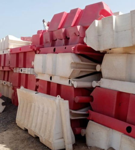 traffic barrier recycling machine, traffic barrier shredder, traffic barrier crusher, road safety barrier recycling