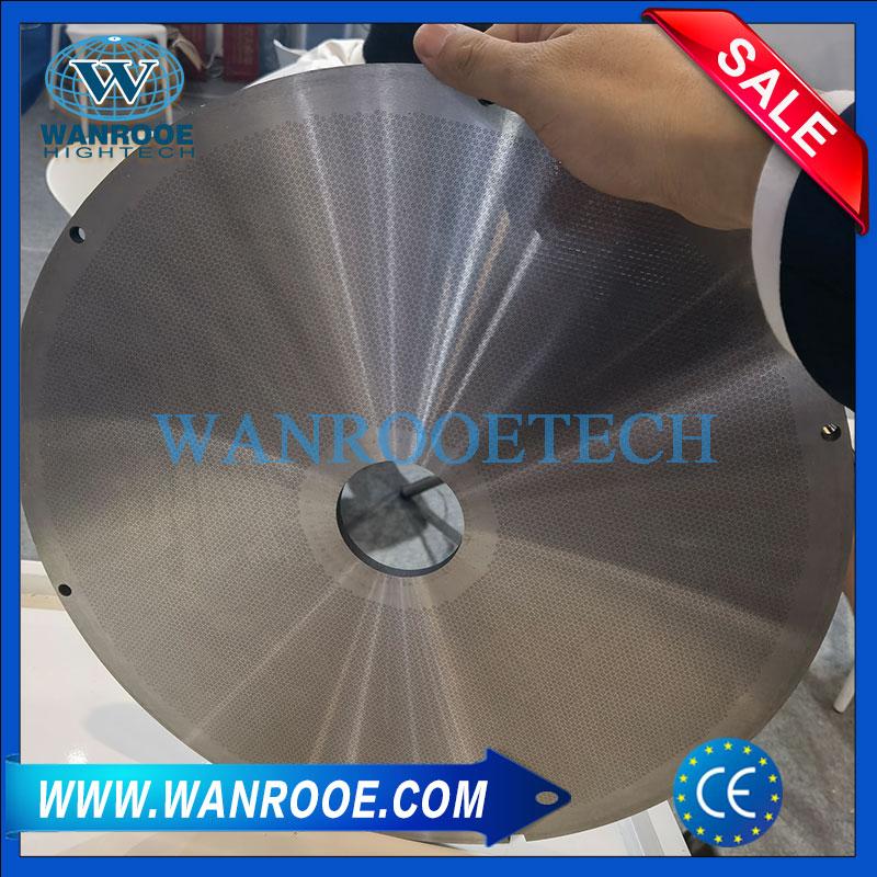 pelletizer filter without wire mesh, no mesh melt filter, screen changer, melt filter, continuous melt filter