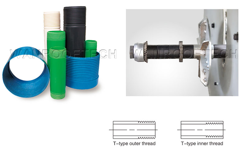pipe threading machine, PVC pipe threading machine, PVC threading machine, CNC pvc pipe threading machine, PVC pipe thread cutting machine